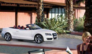 Kühle Sitze trotz strahlender Sonne: Audi bietet für das A5 Cabriolet  Aufheizschutz-Polster an. (Foto)