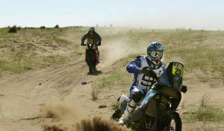 Kurze Trauer - Dakar-Karawane zieht weiter (Foto)