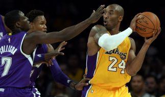 Lakers-Star Kobe Bryant kündigt Ende der Karriere an. (Foto)