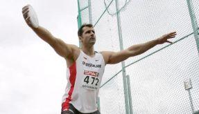 Lars Riedel bei der Leichtathletik-EM im Jahr 2006. (Foto)
