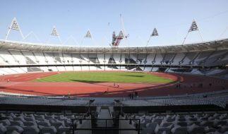 Laufbahn im Londoner Olympiastadion eingeweiht (Foto)