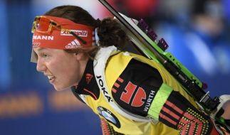 Laura Dahlmeier ist momentan die Überfliegerin im Biathlon. (Foto)