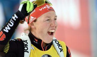 Laura Dahlmeier will in Sachen Weltcup nicht rechnen. (Foto)