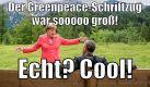 Laut Greenpeace hat die Laser-Projektion am Zugspitz-Massiv Merkel wohl nachhaltig beeindruckt. Foto: news.de-Screenshot (Twitter/@GreenpeaceKL)