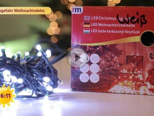 Billige lichterketten sind gef hrlich weihnachtsdeko im - Billige weihnachtsdeko ...