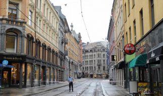 Leere Straßen im Zentrum von Oslo (Symbolfoto). (Foto)