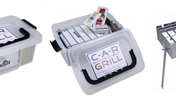 Leicht zu verstauen, fix aufgebaut und schon kann man die Steaks genießen: mit dem CAR-Grill. (Foto)