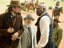 Leonardo DiCaprio (links) gibt in Django Unchained den Plantagenbesitzer Candie. (Foto)
