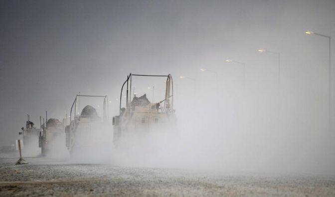 Letzte US-Kampftruppen haben Irak verlassen (Foto)