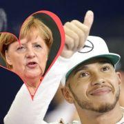 Formel-1-Pilot liebt Bundeskanzlerin Merkel (Foto)