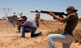 Libysche Rebellen auf dem Vormarsch (Foto)