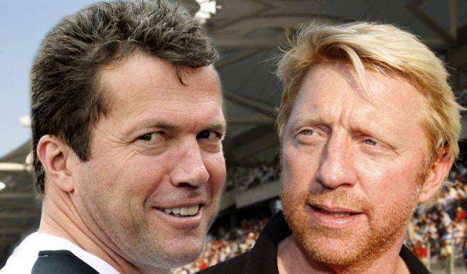 Lothar Matthäus und Boris Becker (Foto)