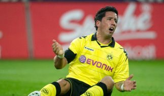 Lucas Barrios bleibt beim BVB - auf der Bank (Foto)