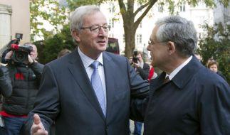 Lucas Papademos, Jean-Claude Juncker (Foto)
