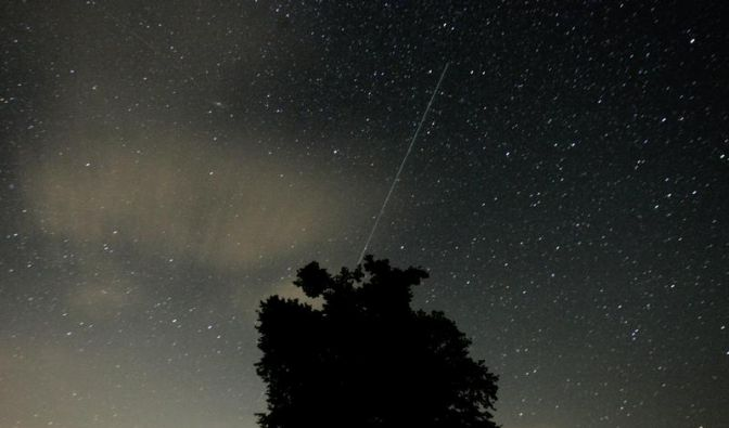 Lyriden-Sternschnuppen funkeln am Himmel (Foto)