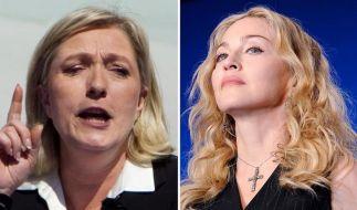 Madonna legt sich mit Marine Le Pen an (Foto)