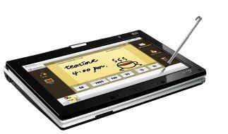 Mal was Neues auf dem Netbook-Markt: das T91 mit drehbarem Touchscreen von Asus. (Foto)