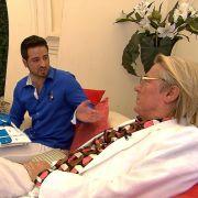Malek und Gabi wollen in Monaco sesshaft werden, Björn Lefnaer (r.) soll dabei helfen. (Foto)