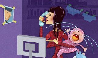 Managerin im Dauerstress - irgendwann wird das der stärksten Mutter zu viel. (Foto)