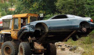 Manche Schrottlaube kann sogar noch fahren. (Foto)