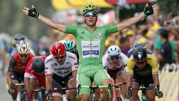 Marcel Kittel vom Team Quick-Step Floors konnte bisher fünf Etappen bei der Tour de France 2017 für sich entscheiden.