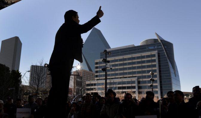 Marco Rubio bei einer Wahlveranstaltung in Dallas, Texas. (Foto)