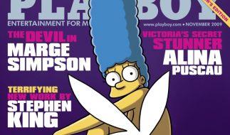 Marge Simpson auf dem Playboy (Foto)