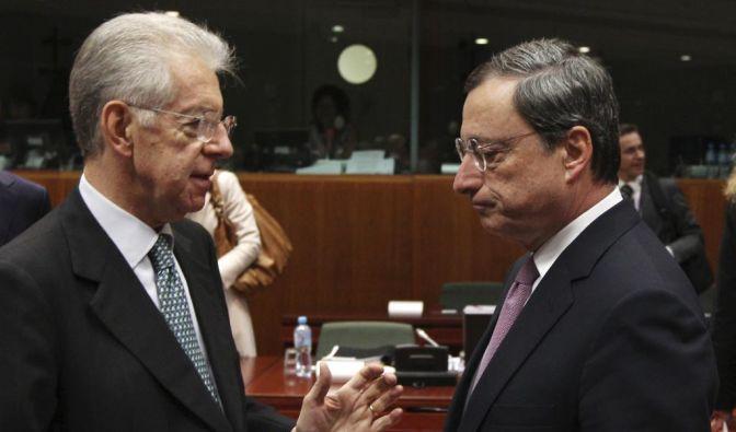 Mario Draghi, Mario Monti (Foto)