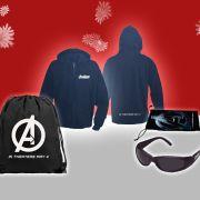 Zum Start von Marvels The Avengers verlost news.de Hoodies, Sonnenbrillen und Rücksäcke.