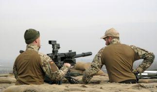 Maschinengewehrstellung auf der Höhe 431 im nordafghanischen Distrikt Char Darah (Foto)