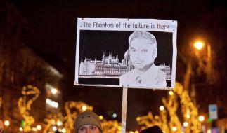 Massenprotest in Ungarn gegen neue Verfassung (Foto)