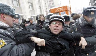 Massenproteste in ganz Russland für Neuwahlen (Foto)