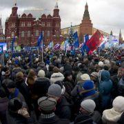Die Proteste am Samstag in Moskau waren die größten Demonstrationen seit mehr als 20 Jahren.