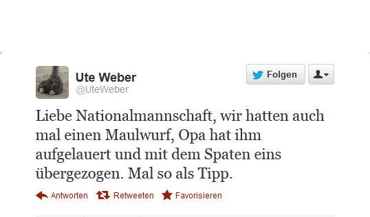 Maulwurf-Tweets (Foto)