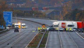 Mehrere Tote bei Massenkarambolage in England (Foto)