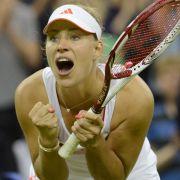 Mental die Stärkste: Tennis-Kanzlerin «Angie» Kerber stoppt «Bum-Bum-Bine» Sabine Lisicki.