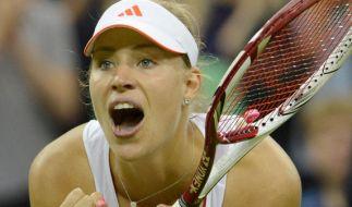 Mental die Stärkste: Tennis-Kanzlerin «Angie» Kerber stoppt «Bum-Bum-Bine» Sabine Lisicki. (Foto)