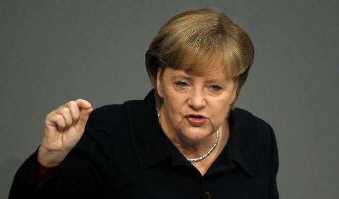 Merkel will Ängste vor einer deutschen Dominanz in Europa zerstreuen.  (Foto)