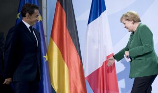 Merkel empfaengt Sarkozy (Foto)