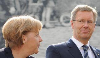 Merkel: «Große Wertschätzung» für Bundespräsident (Foto)