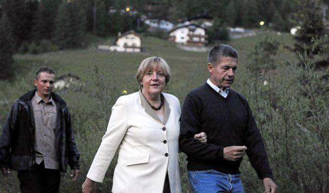 Merkel im Urlaub (Foto)