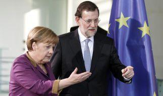 Merkel lobt Rajoy für Spaniens Sparprogramm (Foto)