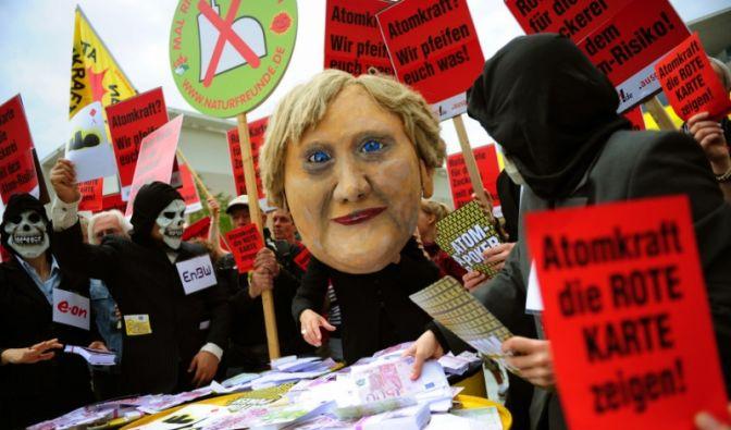 Merkel Protest (Foto)