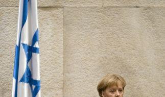 Merkel spricht vor der Knesset (Foto)