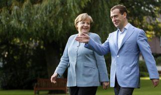 Merkel trifft Medwedew (Foto)