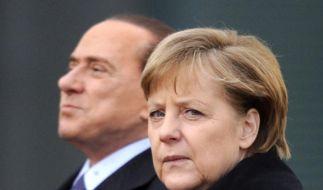 Merkel und Berlusconi (Foto)