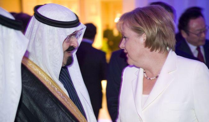 Merkel und der Diktator (Foto)
