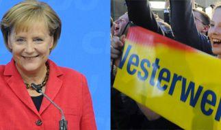 Merkel und die FDP (Foto)
