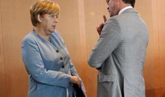 Merkel und Guttenberg (Foto)