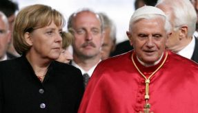 Merkel und Papst (Foto)